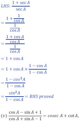 class ten math trigonometry ncert solution27 of Exercise 8.4