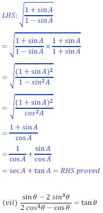 class ten math trigonometry ncert solution33 of Exercise 8.4