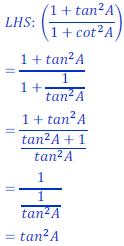 class ten math trigonometry ncert solution41 of Exercise 8.4