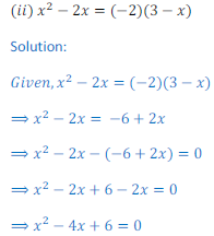 Quadratic Equation 6