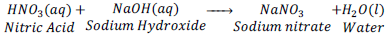 reaction of nitric acid with sodium hydroxide